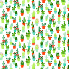 Ovaal tafelzeil cactussen met bloemen
