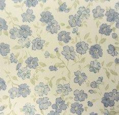 Plakfolie bloemetjesbehang blauw (45cm)