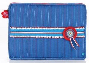 Lief! laptophoes blauw 36x26cm