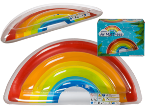 Opblaasbare regenboog luchtbed 168x80x20 cm