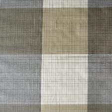 55x140cm Restje wasbaar tafelzeil geblokt wit/grijs/bruin