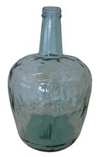 Grote glas vaas deco lichtgroen transparant