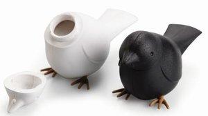 Qualy vogels peper & zout set wit+zwart