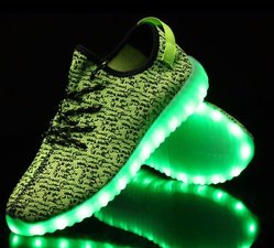 Led schoenen trendy lime (mt 25-34)
