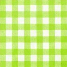 Ovaal tafelzeil grote ruit lime groen