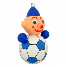 Tuimelpop XL retro voetballer blauw