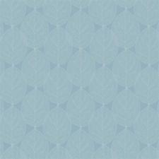 45x140cm Restje tafelzeil leafs sky blauw