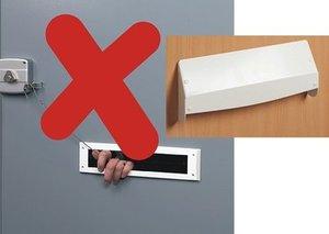Anti hengel systeem brievenbus creme
