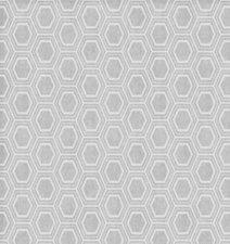45x140cm Restje tafelzeil honingraat zilver/grijs