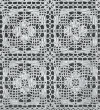 35x140 Restje tafelzeil kant wit gehaakt patroon