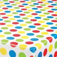 Ovaal tafelzeil grote polkadots gekleurd