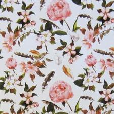Rond tafelzeil bloemen en veren (140cm)