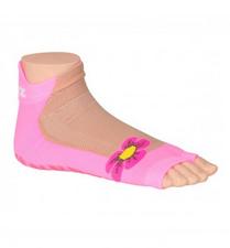 Antislip zwemsokken Sweakers roze flower maat 23-26