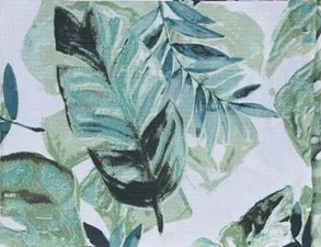 Tafelkleed linnen look bladeren 130x180cm