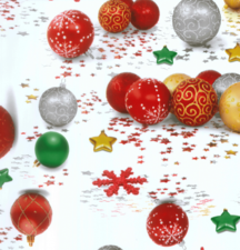 Ovaal tafelzeil kerstbal ornament