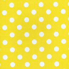 Rond tafelzeil geel met witte stippen (140cm)