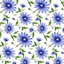 Doorzichtig tafelzeil Margriet donkerblauw