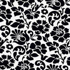 Rond doorzichtig tafelzeil barok zwart(140cm)