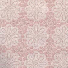 SALE Rond tafelzeil vintage bloemen roze 140cm