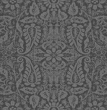 60x140cm Restje tafelzeil ornament antraciet