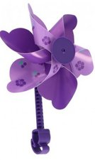 Fietsversiering windmolentje paars