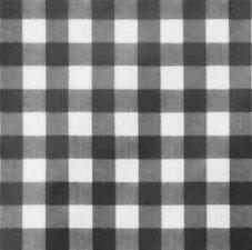 45x140cm Restje tafelzeil grote ruit zwart