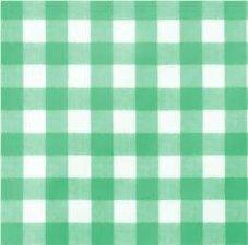 35x140 Restje tafelzeil grote ruit groen