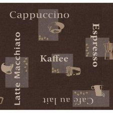 35x140 Restje tafelzeil koffie