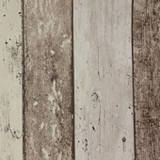 55x140cm Restje tafelzeil steigerhout bruin/beige