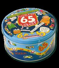 Koek- snoeptrommel: hoera 65 jaar!
