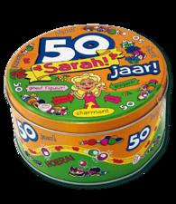 Koek/snoeptrommel: 50 jaar, Sarah!