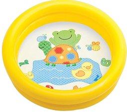 Kinder zwembadje geel doorsnee 61cm