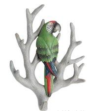 Wandhaak papegaai groen op tak