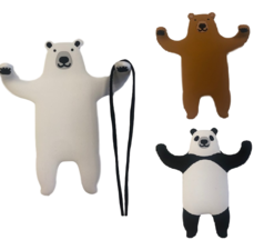 Wandhaakje beer panda