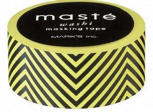 Masking tape Masté geel zwart
