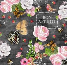 Rond tafelzeil Bon appetit (140cm)