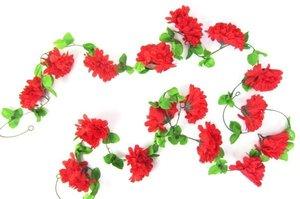 Bloemenslinger fietsslinger grote bloemen rood