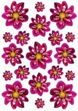 Fietsstickers bloemen kleine dahlia's