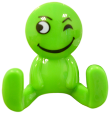 Kapstokhaakje smiley groen