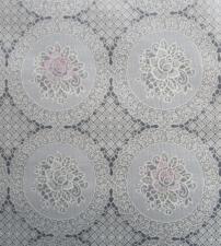 50x140cm Restje tafelzeil kant beige met roze en witte bloemen