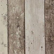 45x140cm Restje tafelzeil steigerhout bruin/beige