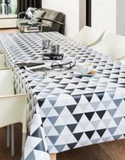 65x140cm Restje tafelzeil piramide zwart/grijs