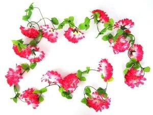 Bloemenslinger fietsslinger grote bloemen roze/wit