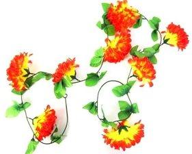 Bloemenslinger fietsslinger grote bloemen oranje/geel
