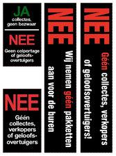 Sticker géén collectes
