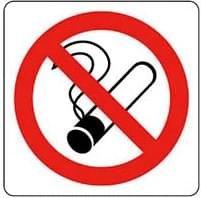 Pictogram sticker Verboden te roken