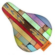 Zadelhoesje kinderfiets steigerhout planken