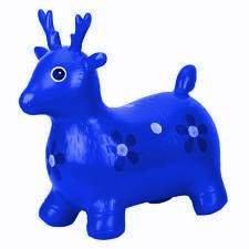 Skippy hert blauw zithoogte 27cm
