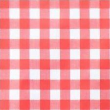Ovaal tafelzeil grote ruit rood