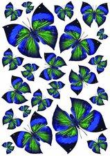Fietsstickers vlinders zwart-blauw-groen